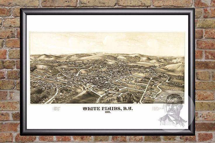 White Plains, NY Historical Map - 1887
