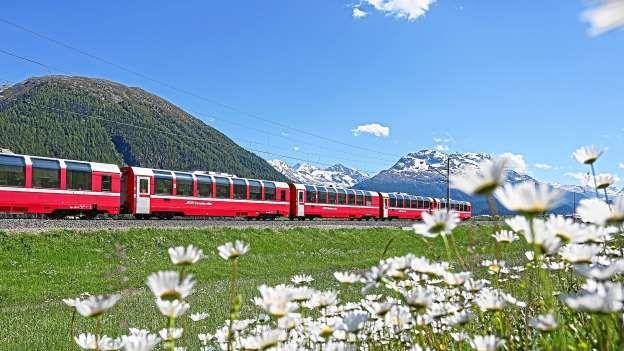 Start: Chur, SwitzerlandEnd: Tirano, ItalyTicket Price: Fares for a departure on Dec. 1, 2017, start... - Christoph Benz / Rhaetische Bahn