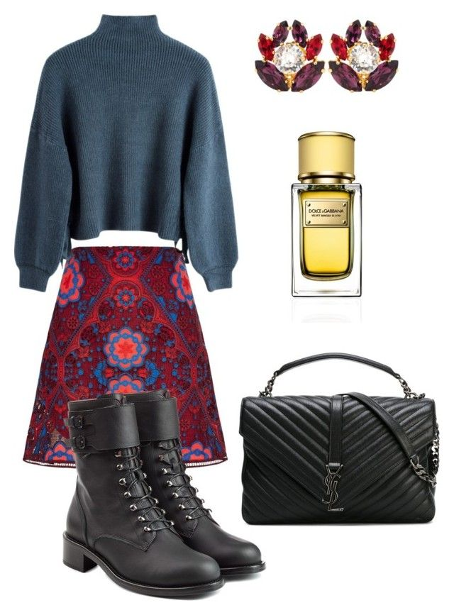 """Без названия #94"" by anita-wonderlight on Polyvore featuring мода, Sandro, Philosophy di Lorenzo Serafini, Yves Saint Laurent и Dolce&Gabbana"