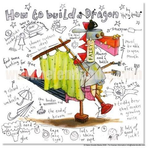 How to Build a Dragon by Helen Doodle