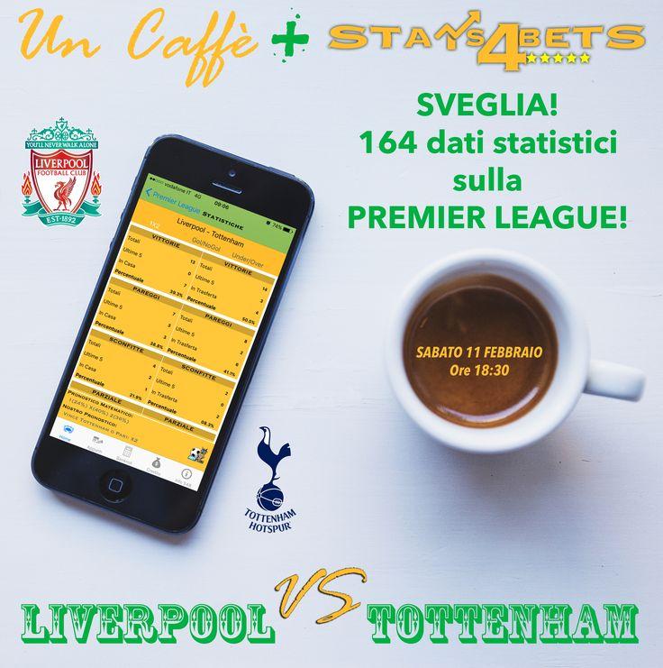 Pronostici Premier League: domani alle 18:30 big match Liverpool-Tottenham. Scrivi nei commenti il risultato e vinci Stats4Bets.