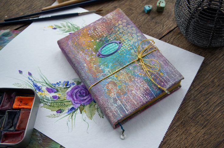 Handmade by Smilla: Весенний блокнот с крашеной обложкой и заключительный сюрпризный розыгрыш.