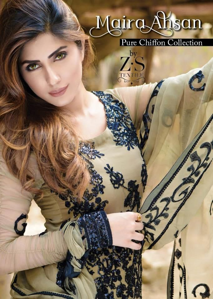 Maira Ahsan Pure Chiffon Collection 2016 by ZS Textile