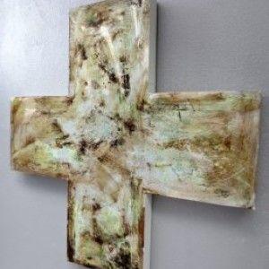 """""""Silver Metallic Cross"""" - by Jody Gibbons"""