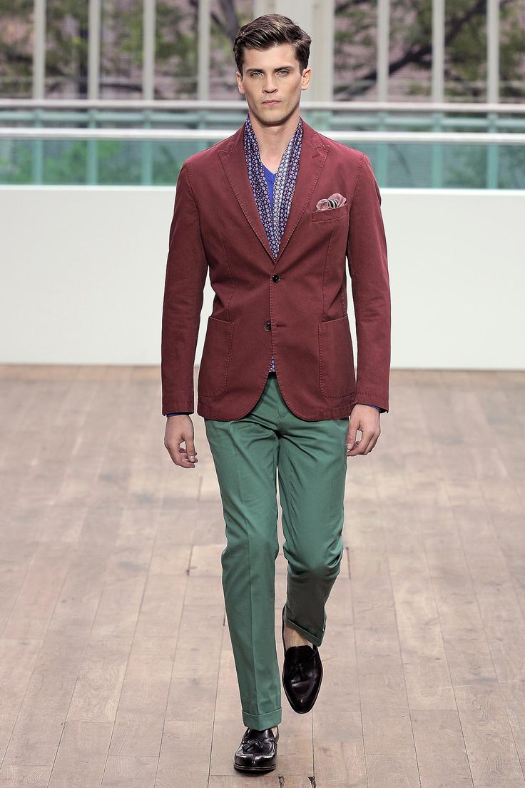 red jacket green pants hackett men style british menswear blog
