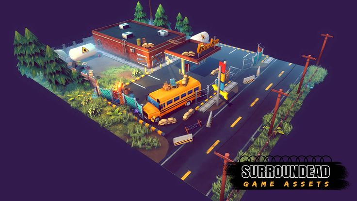 SurrounDead - Survival Game Assets (modular buildings with interiors). With top down in mind and newly added modular aproach SurrounDead - Survival game assets is perfect to help you kickstart your survival sandbox or zombie/monsters/pigs etc. post apocalyptic defense game. Link: http://u3d.as/DUc