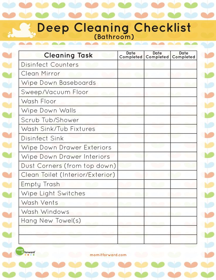 how to clean a bathroom checklist | bathroom deep cleaning list download the bathroom deep cleaning list ...