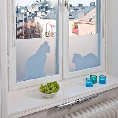 Vindusfilm - Cats in window
