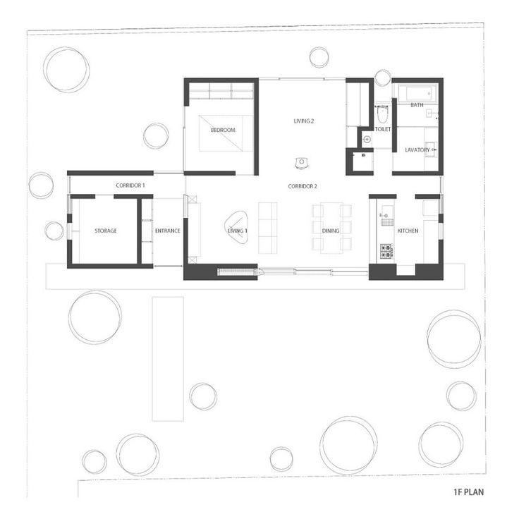 Elegant Floor Plan Of The Garden House By MA Style Architects
