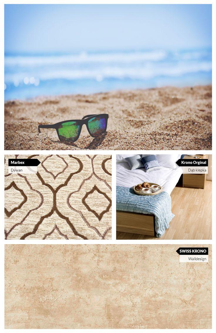 Wnętrze inspirowane plażą czyli pomysł na pokój w odcieniach błękitu i piaskowego beżu.