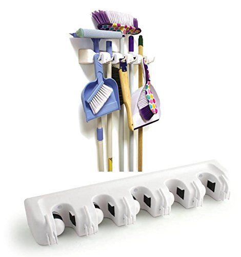 Brush Broom and Mop Holder Storage Tidy Organiser Wall Rack The Dustpan and Brush Store http://www.amazon.co.uk/dp/B00G46VZXU/ref=cm_sw_r_pi_dp_TYkywb1RE89FH