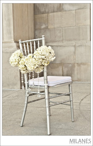 Hydrangea Chair Decor Chair covers for Weddings, Chair Dressing for Wedding, Wedding decoration
