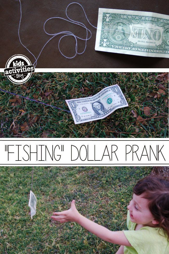Catch a dollar...if you can! This easy prank for kids is fun for the whole family. Kids Activities Blog hopes you have a fun April Fools Day with your kids.
