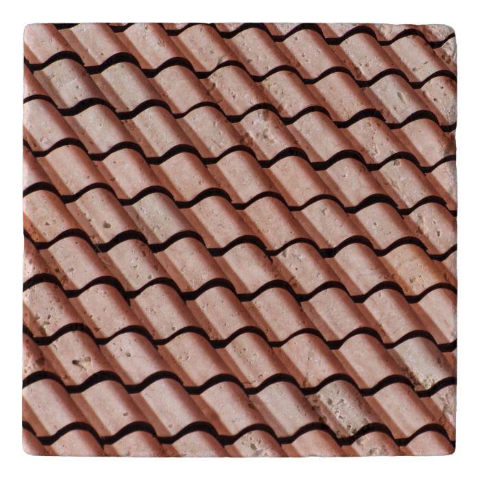 Clay Roof Tile Design Stone Trivet Zazzle Com In 2020 Clay Roof Tiles Roof Tiles Clay Roofs