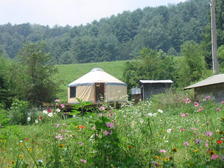 Yurt in Marshall, United States. Feel big in this small space! The yurt sits in the middle of 100 acres with the comforts of a kitchen, toilet, clawfoot tub, organic towels & sheets and a woodstove. Close to Asheville's hiking, river, restaurants, and music, yet a private getaway... - Get $25 credit with Airbnb if you sign up with this link http://www.airbnb.com/c/groberts22