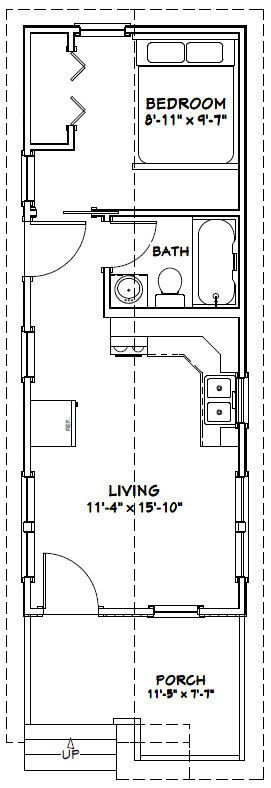 12x32 Tiny House -- #12X32H1C -- 384 sq ft - Excellent Floor Plans