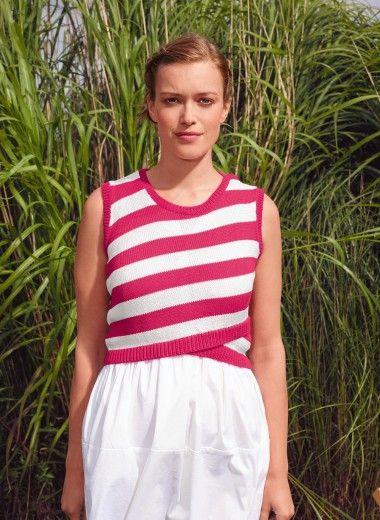 Mag. 184 - #02 Crop top | Buy, yarn, buy yarn online, online, wool, knitting, crochet | Buy Online