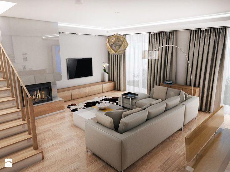 Dom jednorodzinny, Bełchatów - Salon, styl skandynawski - zdjęcie od Futurum Architecture