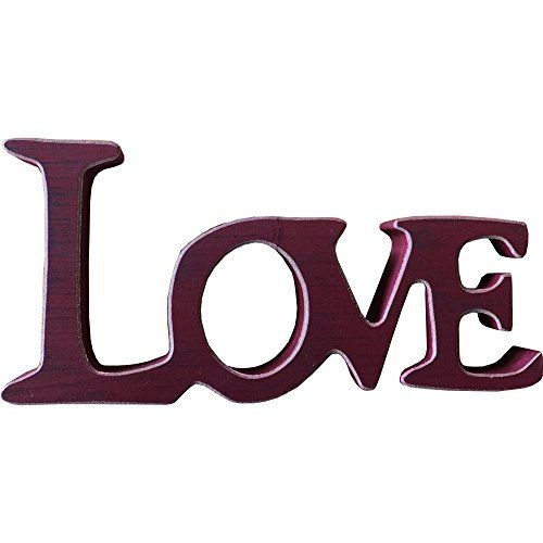 """Freestanding """"Love"""" Sign in Red Giftworks http://www.amazon.co.uk/dp/B010AA5JY6/ref=cm_sw_r_pi_dp_fomdxb1ZVWMPZ"""