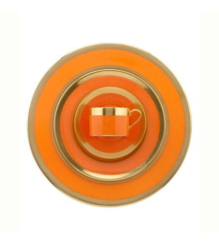 Orange is the New Black, Hermes, china, orange china, Hermes orange, tableware, gold trim