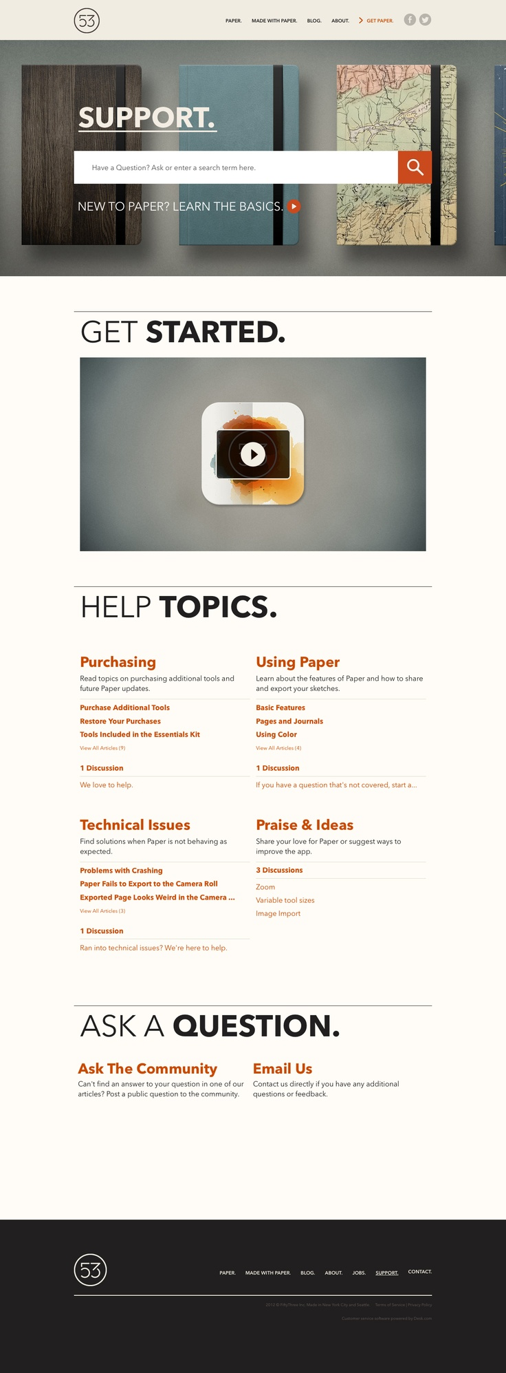 FiftyThree | Support website