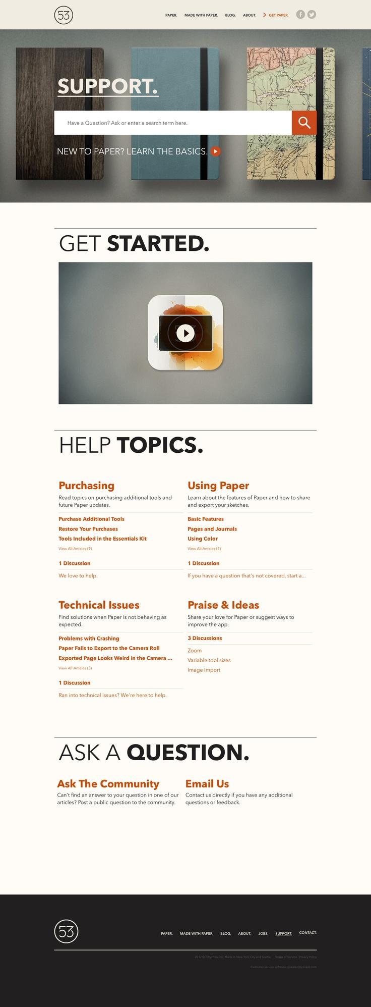 Support #website #design