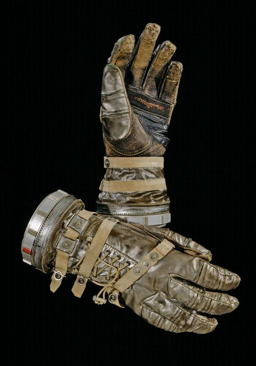 Space suit gloves from the Smithsonian  collection.