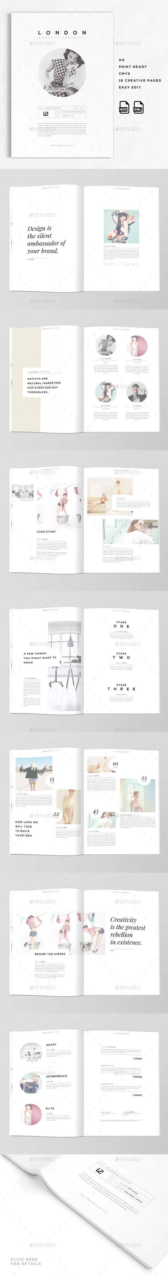London | A4 Creative Business Proposal  #modern #plans #prices • Available here → http://graphicriver.net/item/london-a4-creative-business-proposal-/15571198?ref=pxcr