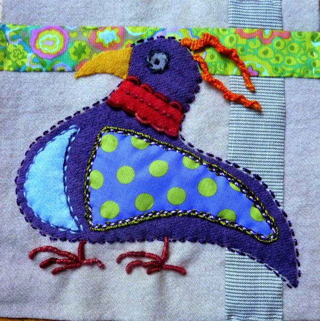 Au bonheur des mains: Sue Spargo Bird Danse #4