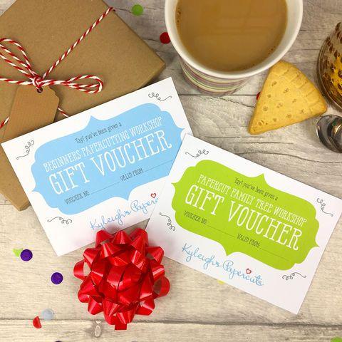 Workshop Gift Vouchers
