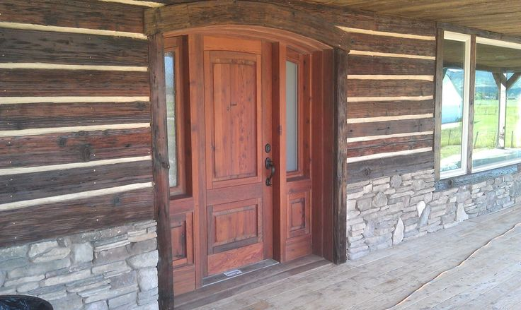 Rustic Exterior Siding Custom Exterior Door Assembly