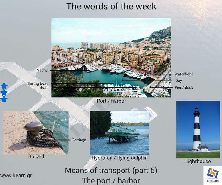 The means of transport (part 5). #Αγγλικά #αγγλικές #λέξεις #αγγλική #γλώσσα #λεξιλόγιο #English #english #words #english #language #vocabulary #LLEARN