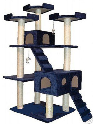 This cat tree (or cat castle) is great for multiple cat households, especially if your cats are indoors. There's so many layers to climb!