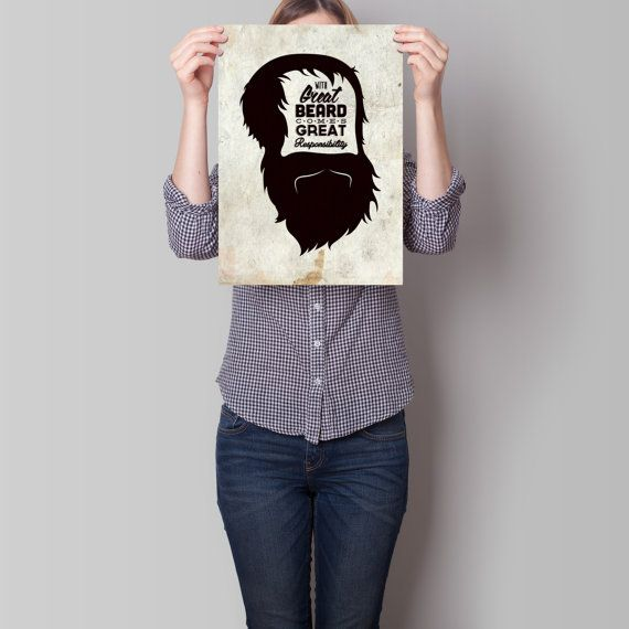 Beard Quote Art Print by TheRizzofiedStudio for the bearded man in your life, or simply for the love of beards!  CLICK now to buy from only $8.00 Or visit www.TheRizzofiedStudio.etsy.com to view all products #artprint #etsy #typography
