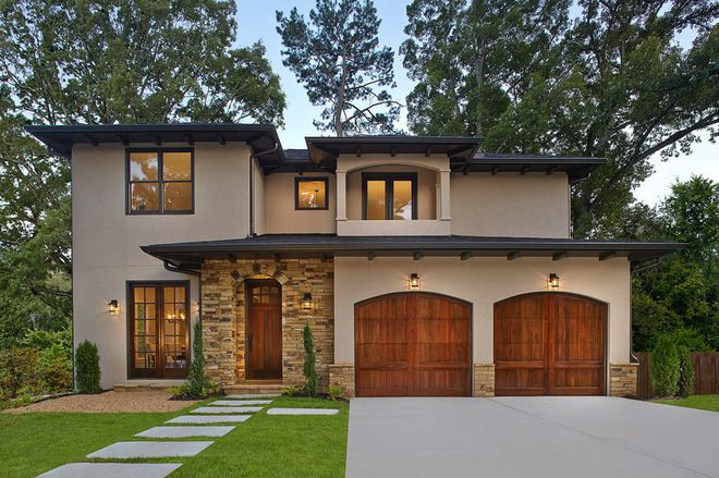houzz mediterranean homes with a black/grey roof | Mediterranean Exterior by Clopay Building Products