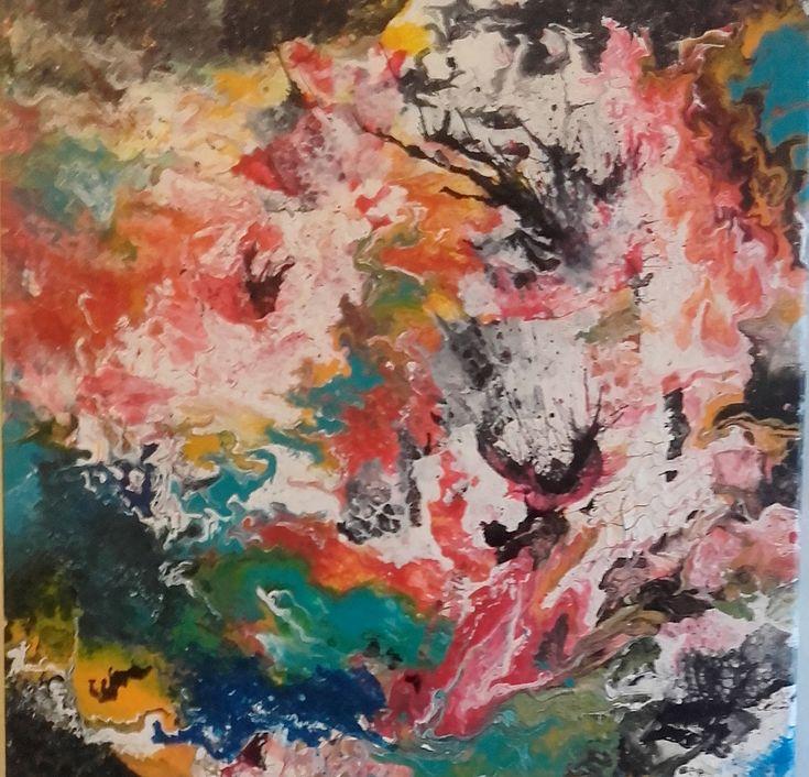 """""""Astrazioni"""" acrilico su tela 40x40 by M.Cristina De Amicis"""