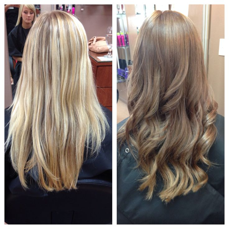 My Real Life Hair Transformation Blonde To Brown With A