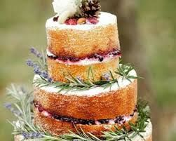 Torta nuziale nuda stile country