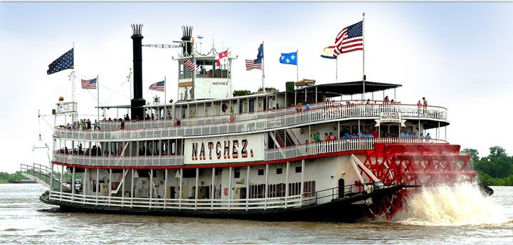 The Natchez offers daytime and evening cruises on an authentic paddlewheel riverboat.