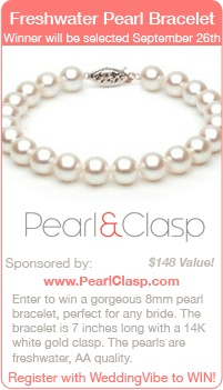 Win a Pearl Bracelet for your wedding day in this giveaway! Wedding giveaways | wedding contests | wedding sweepstakes