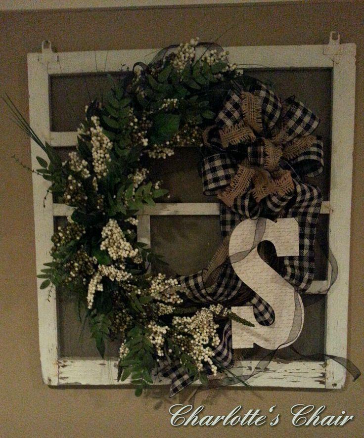 A Wreath on an Old Window Screen :: Hometalk
