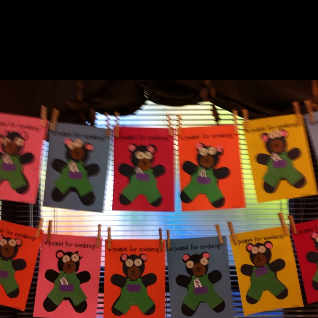 Corduroy Bear craft with the kiddies
