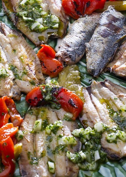 Filetes de sardinha na brasa