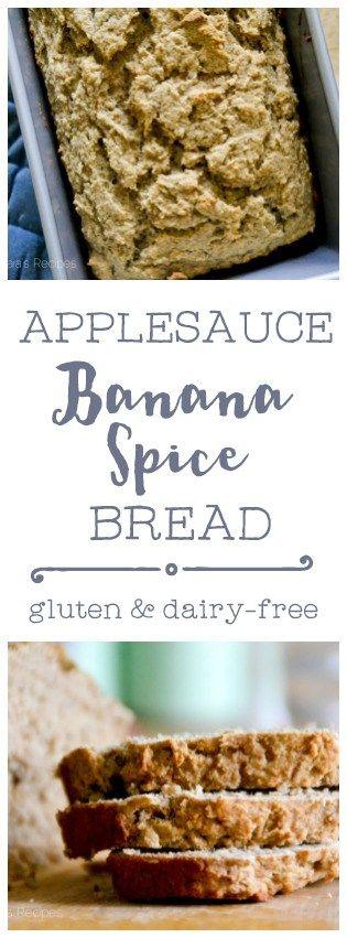 Gluten-Free Applesauce Banana Spice Bread   RaiasRecipes.com