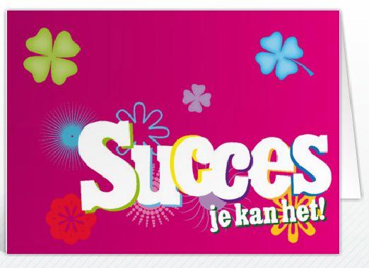 'Succes je kan het!'
