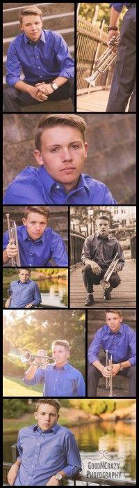 Boy Senior Portrait Instrument (trumpet) Ideas -- GoodNCrazy.com
