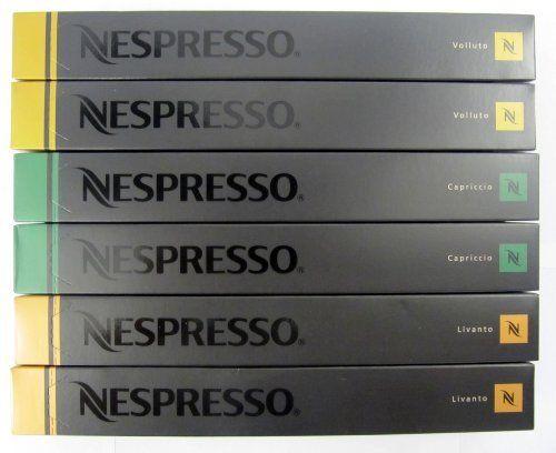 60 nespresso capsules mixed flavors new mixed6 http for Porte 60 capsules nespresso