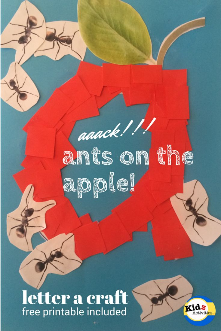 aaack!!! ants on the apple! - letter a craft by Kidz Activities