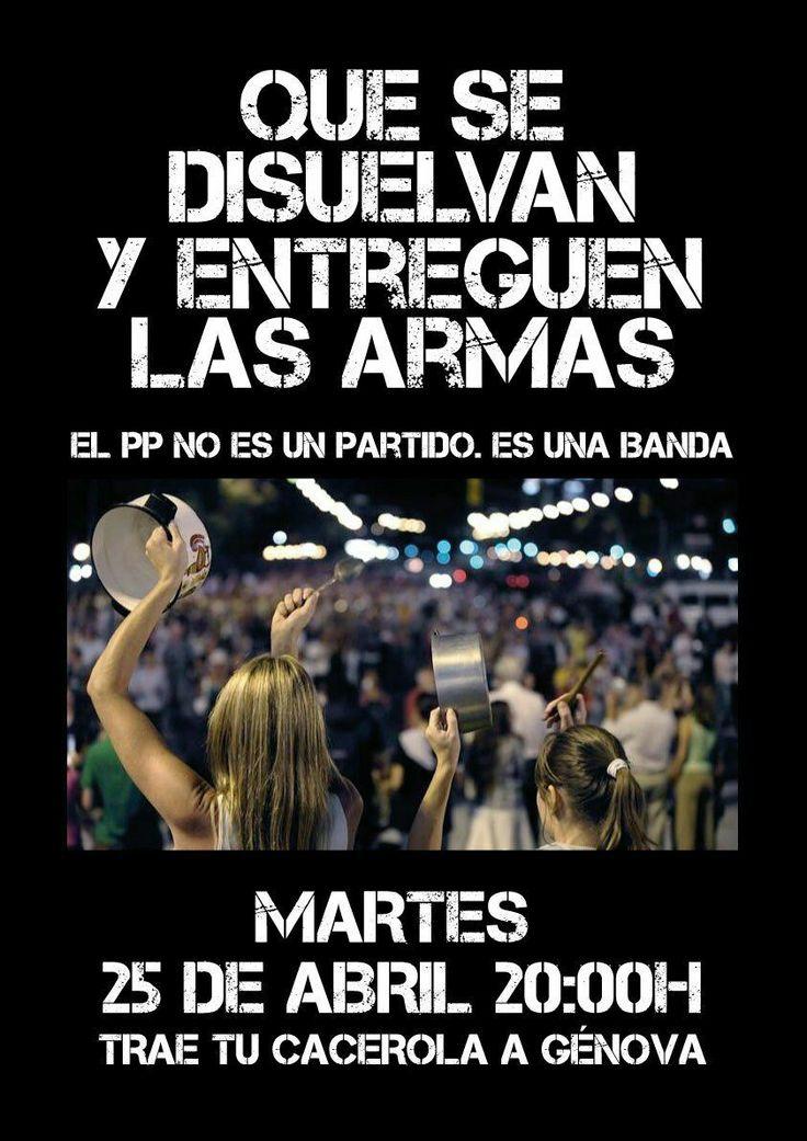 """""""Por un #MadridSinMafia, mañana todas a Génova. ¡PÁSALO!"""""""