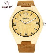 iBigboy Часы Наручные Кварцевые Бамбуковые Деревянные IB-1603Fa(China (Mainland))